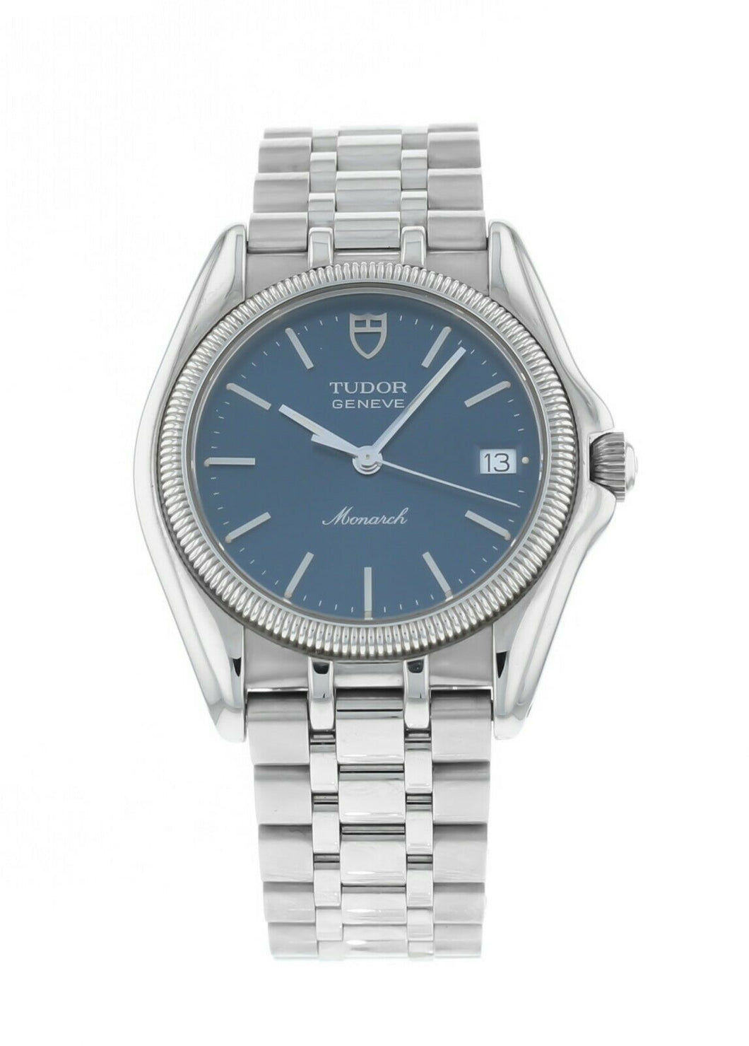 Tudor Monarch 33mm Quartz Blue Dial Stainless Steel Watch 15730/50160