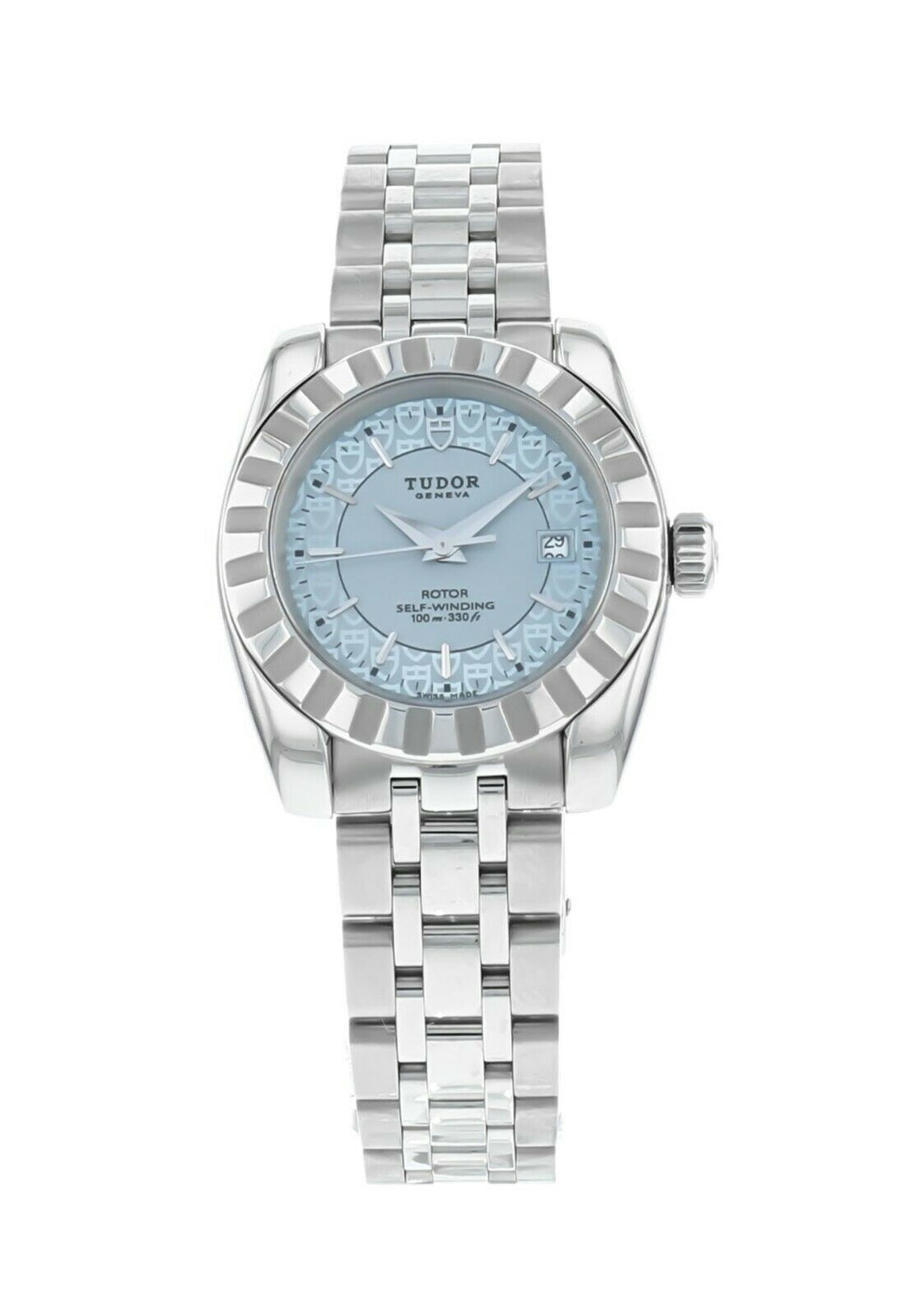 TUDOR Classic Date 28mm Automatic Ladies Stainless Steel Watch 22010-62540