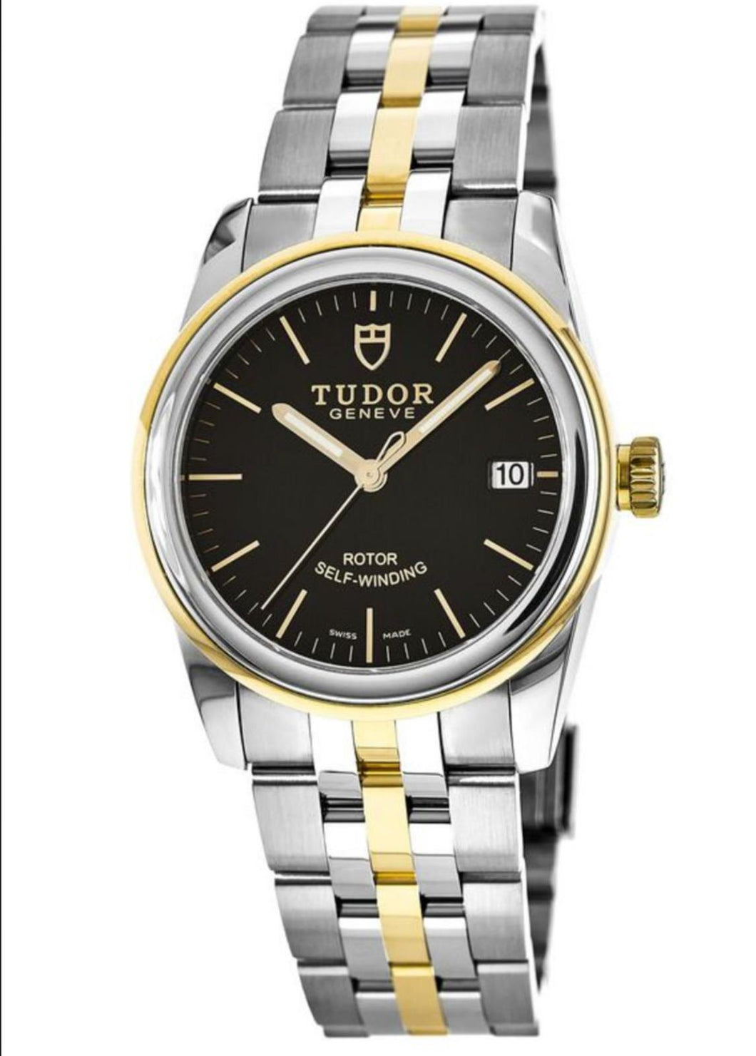 Tudor Glamour Date 36mm Automatic Steel & Gold Watch 55003