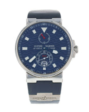 Ulysse Nardin Maxi Marine Chronometer Mens 41mm Blue Dial Watch 263-68LE-3