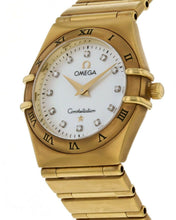 Omega Constellation 18k Yellow Gold Ladies Diamond 25.5mm Watch 1172.75.00