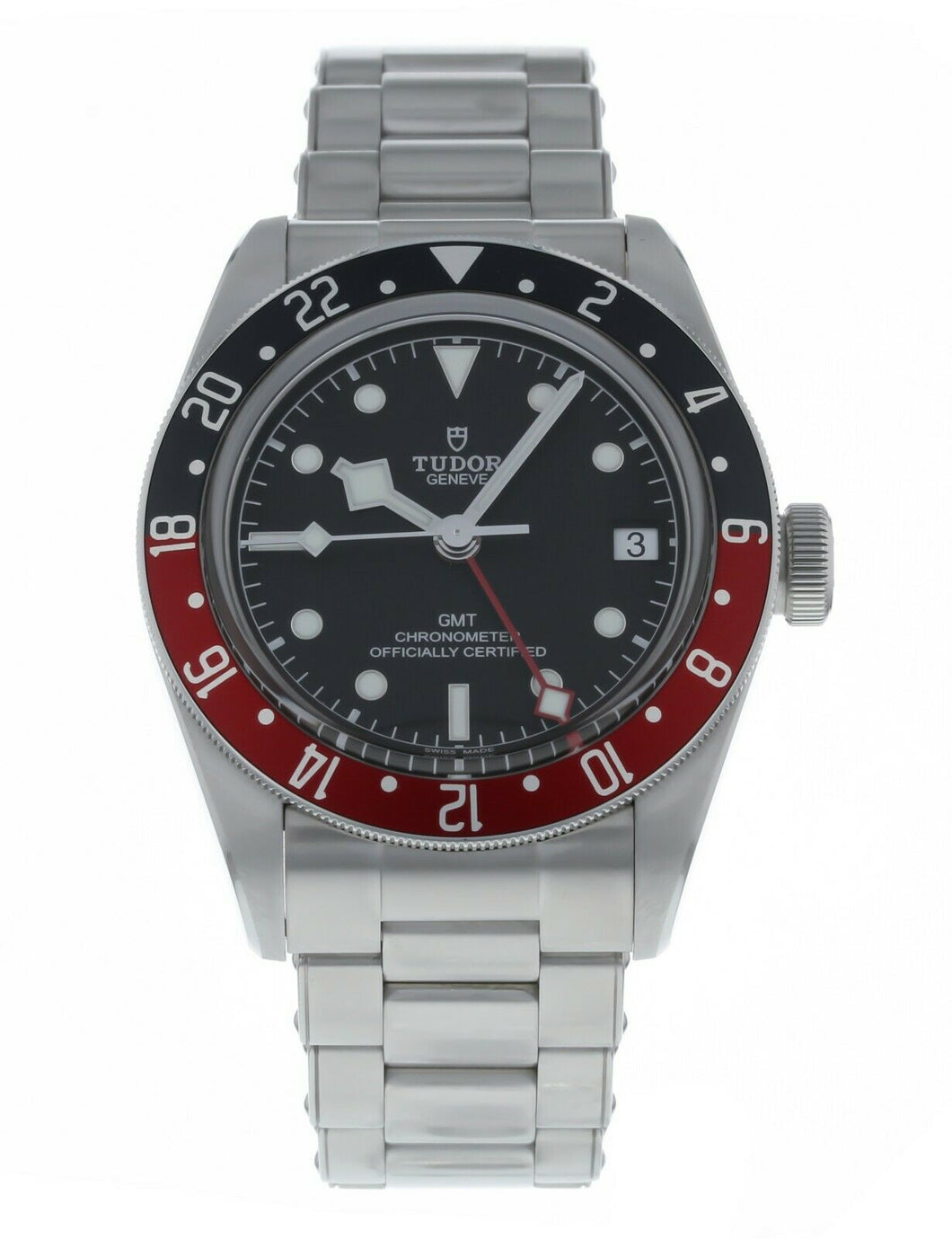 Tudor Pepsi Black Bay Automatic Men's GMT Stainless Steel Watch 79830RB
