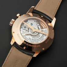 Vulcain 50s Presidents Alarm Automatic 18k Rose Gold Men's Watch 210550.280L