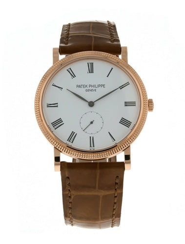Patek Philippe Calatrava Manual 36mm Rose Gold Men's Strap Watch 5119R
