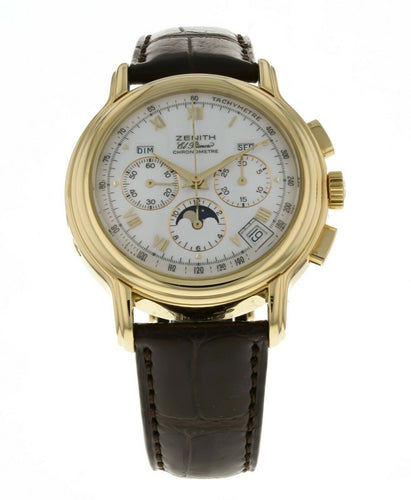 Zenith Chronomaster El Primero Triple Calendar Moonphase 18k Yellow Gold Watch
