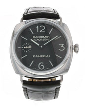 Panerai Radiomir Black Seal Manual 45mm Steel Mens Strap Watch PAM 183