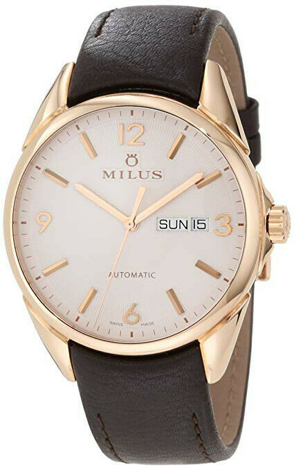 Milus Tirion Automatic 18k Rose Gold Men's 40mm Watch TIRC401