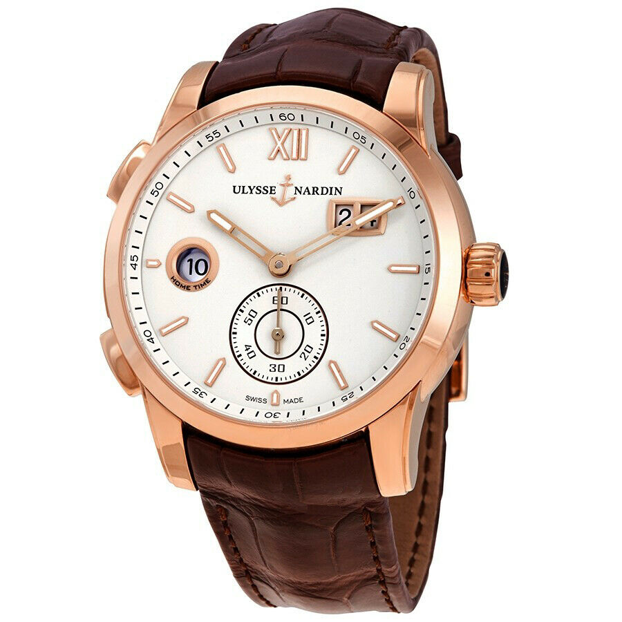 Ulysse Nardin Dual Time Automatic Men's 18k Rose Gold Watch 3346-126/90 TANG