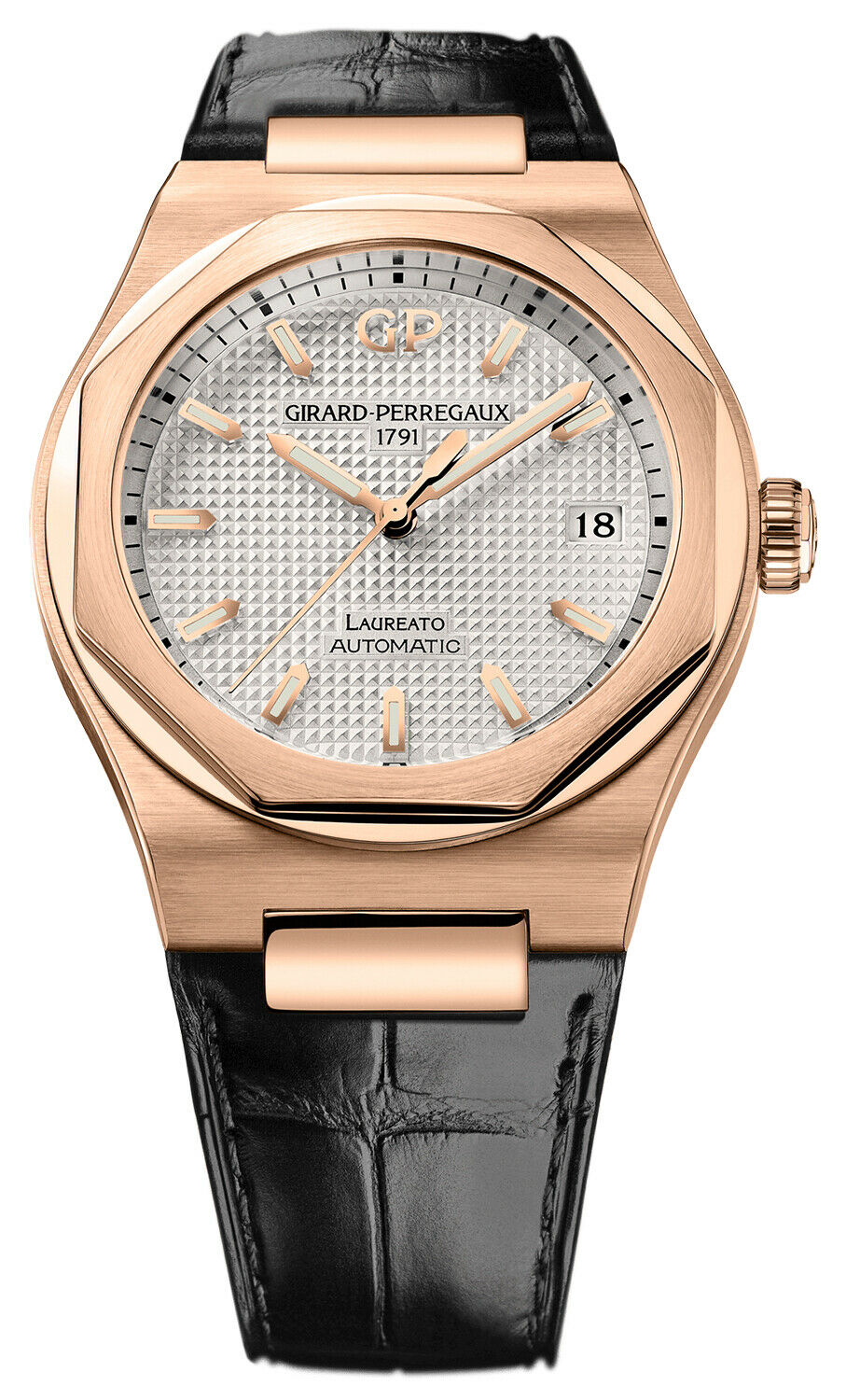 Girard Perregaux Laureato Automatic 38mm 18K Rose Gold Watch 81005-52-132-BB6A