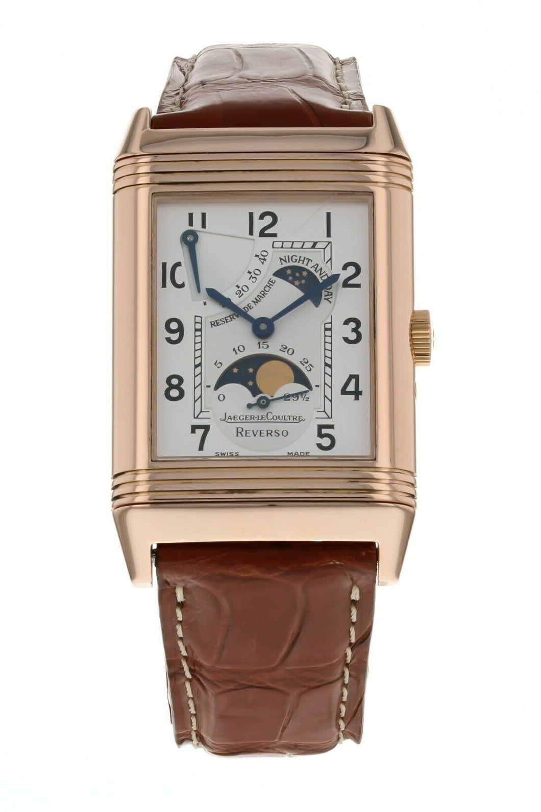 Jaeger-LeCoultre Reverso Sun Moon 18k Rose Gold Men's 26mm x 42mm Watch 270.2.63