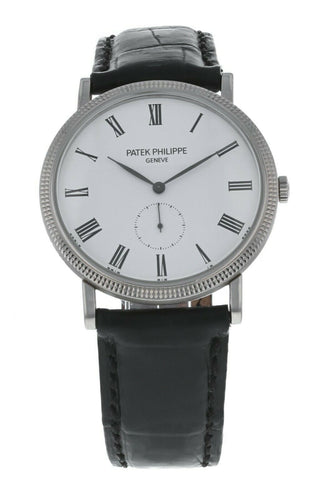 Patek Philippe Calatrava 18k White Gold Men's Hand-Wind 36mm Watch 5119G-001