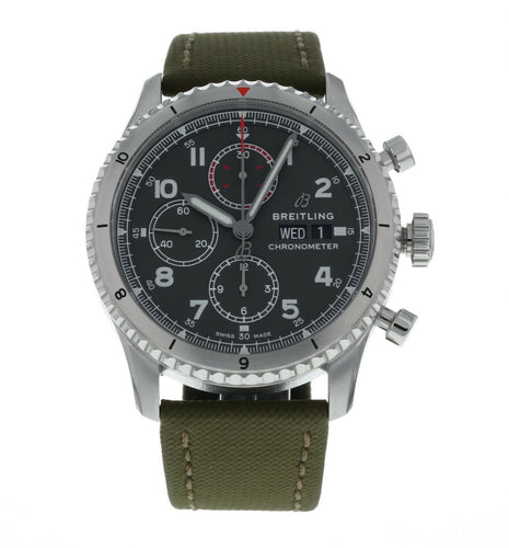 Breitling Aviator 8 Chronograph Green Dial 43mm Men's Automatic Watch A13316