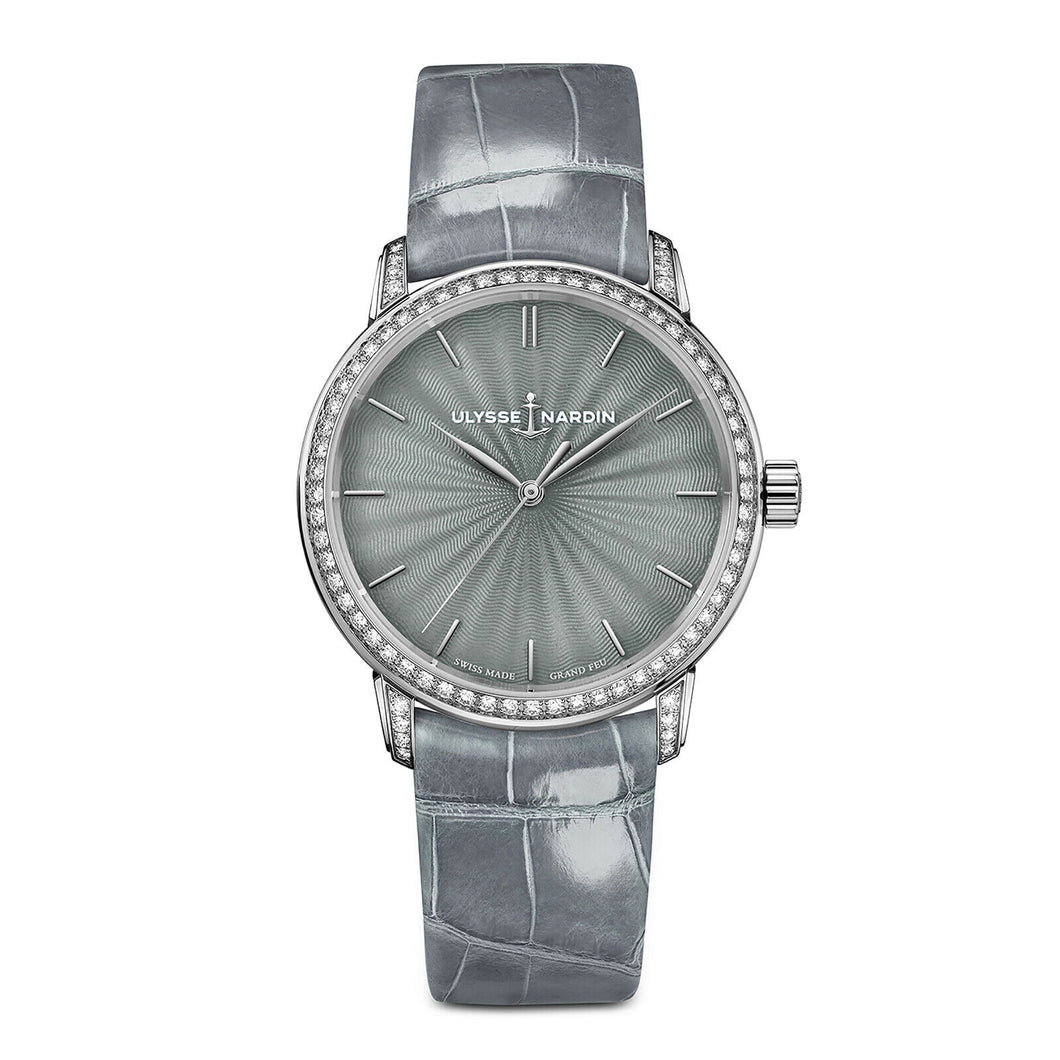 Ulysse Nardin Classico Lady Grand Feu 37mm 18k White Gold Watch 8150-201BC/E1