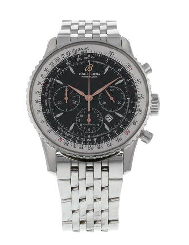 Breitling Montbrillant Stainless Steel Automatic 37mm Men's Watch A41370