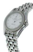 Tudor Monarch Stainless Steel 26mm Ladies Quartz White Dial Watch 15830