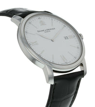 Baume & Mercier Classima Executives Silver Dial Leather 42mm Mens Watch MOA08485