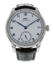 IWC Portuguese Hand-Wind White Dial Men's 43mm Stainless Steel Watch IW510212