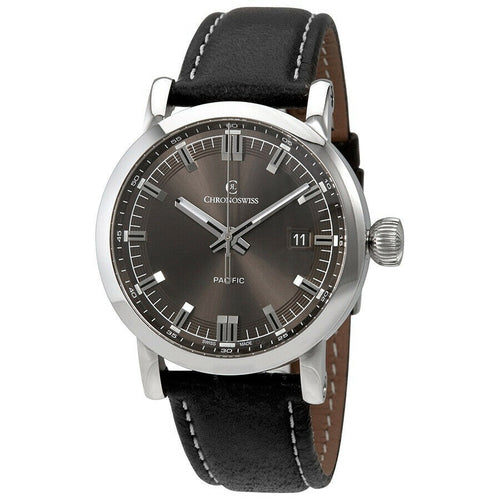 Chronoswiss Pacific Black Men's 40mm Automatic Watch CH-2883.1-BR/32-1