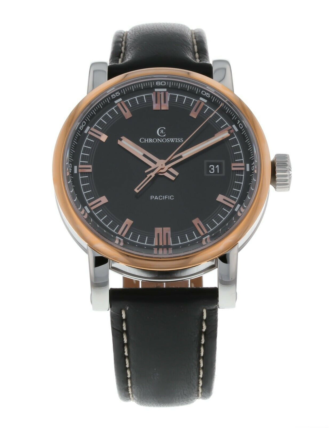 Chronoswiss Grand Pacific Automatic Black Dial Men's Watch CH-2882BR-BK/31-1