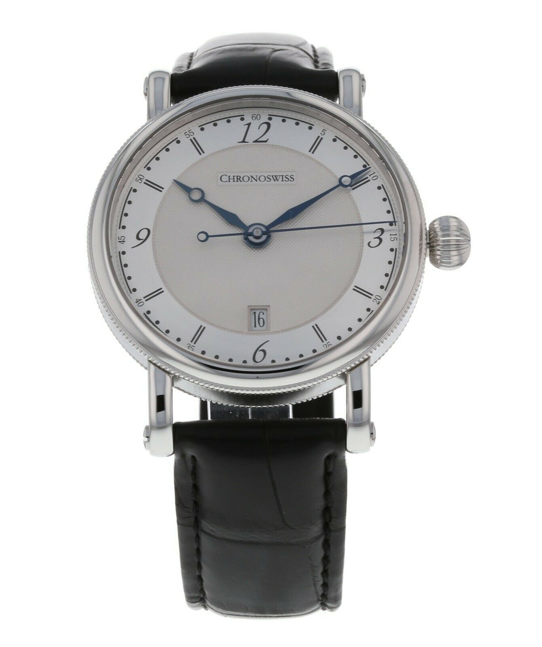 Chronoswiss Sirius Silver Dial Men's 40mm Automatic Leather Watch CH-2843.1/11-1