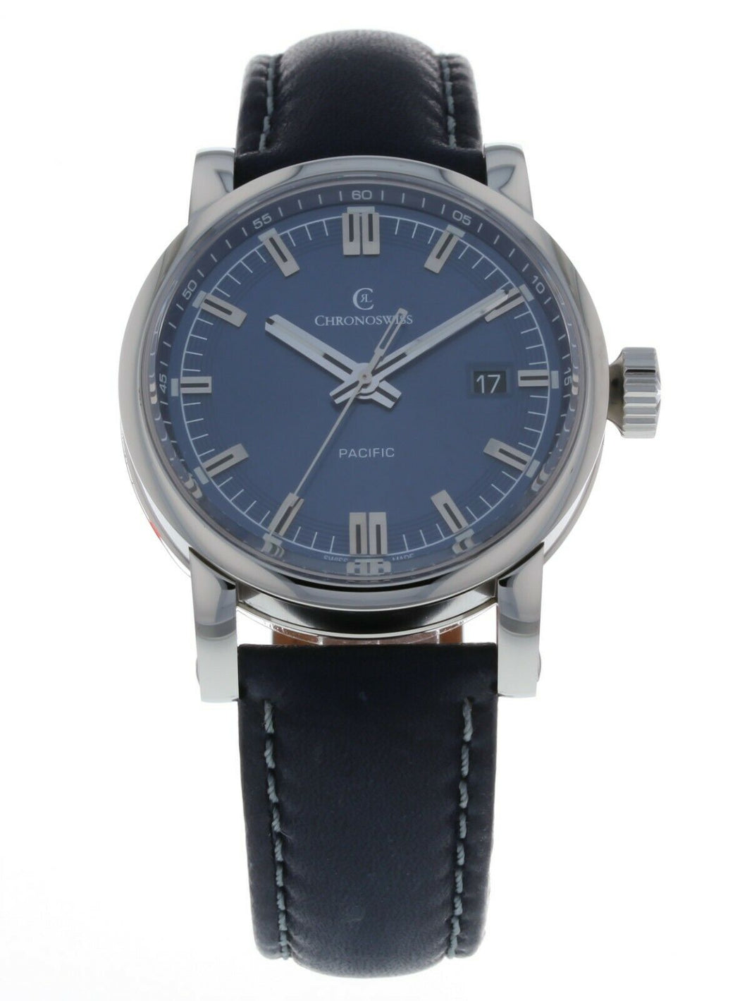 Chronoswiss Pacific Automatic Blue Dial 40mm Men's Watch CH-2883-BL/33-1