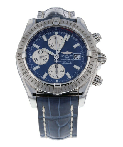 Breitling Chronomat Evolution Blue Dial Chronograph Automatic Men's 44mm Watch
