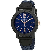 Bvlgari Carbon Gold Blue Dial Automatic 40mm Men's Watch 102634