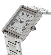 Cartier Tank Solo XL Automatic Silver Dial Stainless Steel Men's Watch W5200028