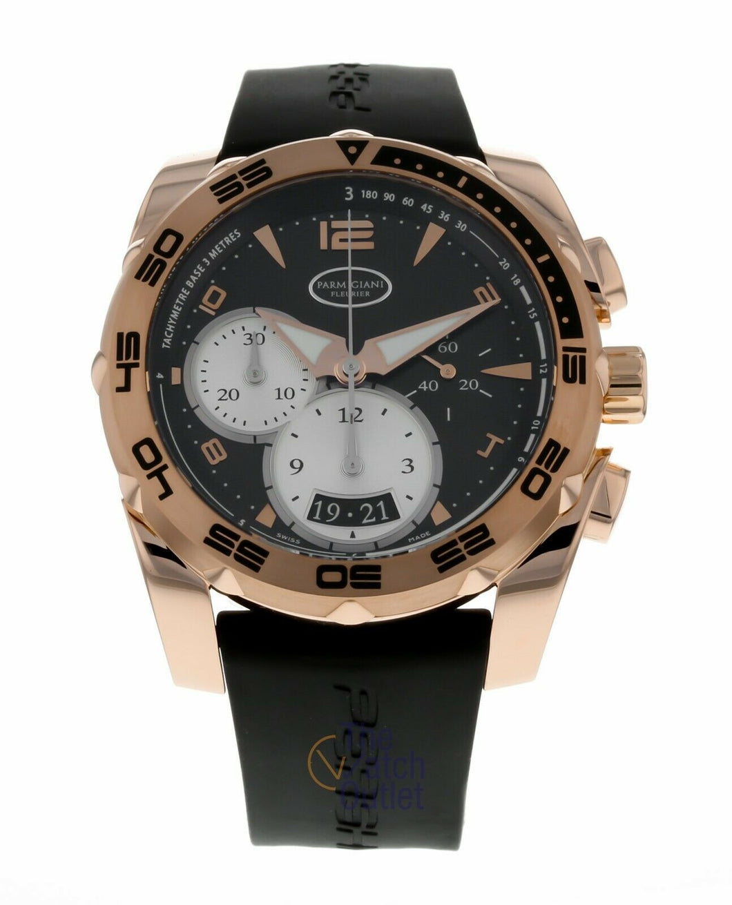 Parmigiani Fleurier Pershing 002 Chronograph 18k Rose Gold Men's Watch PFC528