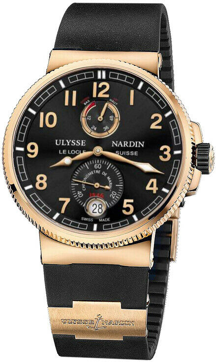 Ulysse Nardin Marine Chronometer Manufacture 18k Rose Gold 43mm Men's Watch