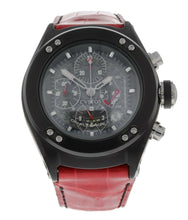 Cvstos Challenge R Chronograph 44mm Black PVD Red-Strap Automatic Men's Watch