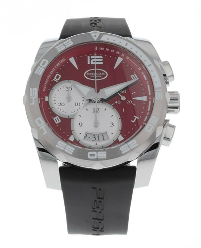 Parmigiani Fleurier Pershing 002 Chronograph Red Dial Men's Automatic Watch