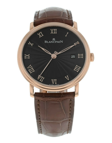 Blancpain Villeret Ultra Slim Auto 40mm 18k Rose Gold Mens Watch 6651-3630-55BR