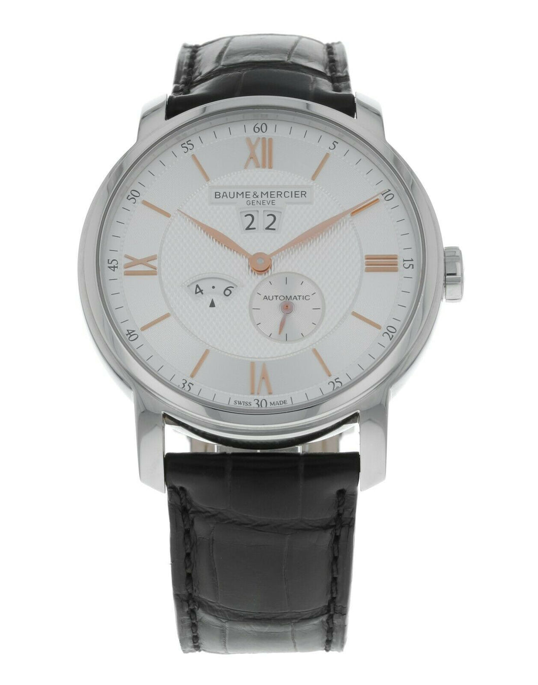 Baume & Mercier Classima Silver Dial Stainless Steel Men's 42mm Watch M0A10038