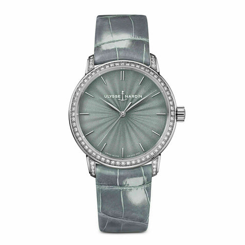 Ulysse Nardin Classico Lady Grand Feu 18k White Gold 37mm  Watch 8150-201BC/E1