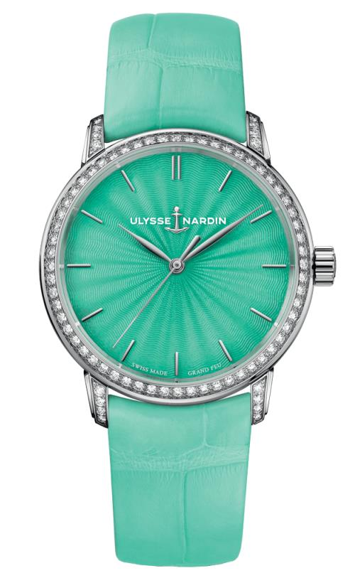 Ulysse Nardin Classico Lady Automatic Chronometer Diamond Green Dial Watch