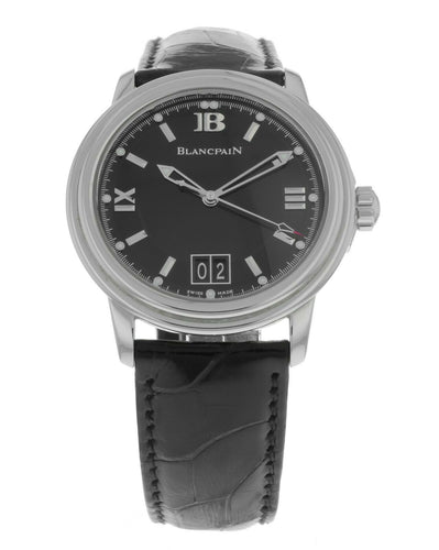 Blancpain Leman Ultra Slim Automatic Big Date Men's 38mm Watch 2150-1130