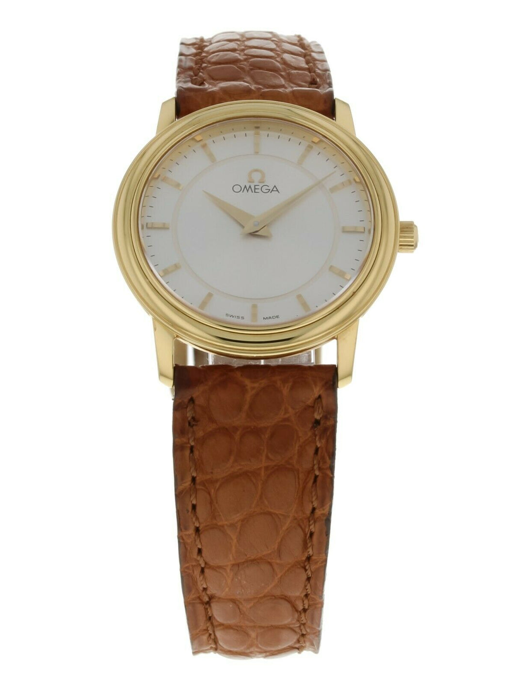 Omega DeVille Prestige 18k Yellow Gold Ladies 27mm Quartz Watch 4680.31.00