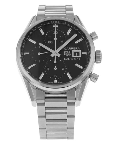 Tag Heuer Carrera Chronograph Automatic Black Dial Men's Watch CBK2110.BA0715