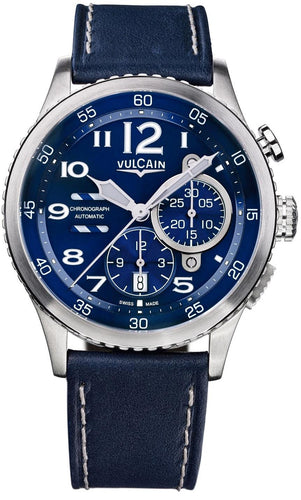 Vulcain Aviator Instrument Chronograph Men's 44.6mm Watch 590163A37.BFC010