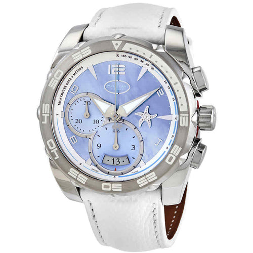 Parmigiani Fleurier Pershing 002 18k White Gold Asteria Chronograph Watch