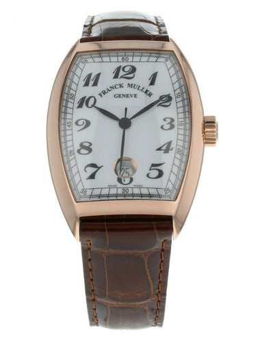 Franck Muller Cintree Curvex Vintage 18k Rose Gold Men's Watch 7851 SC DT VIN