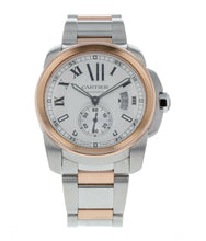 Cartier Calibre De Cartier 42mm 18k Rose Gold & Steel Men's Watch W7100036