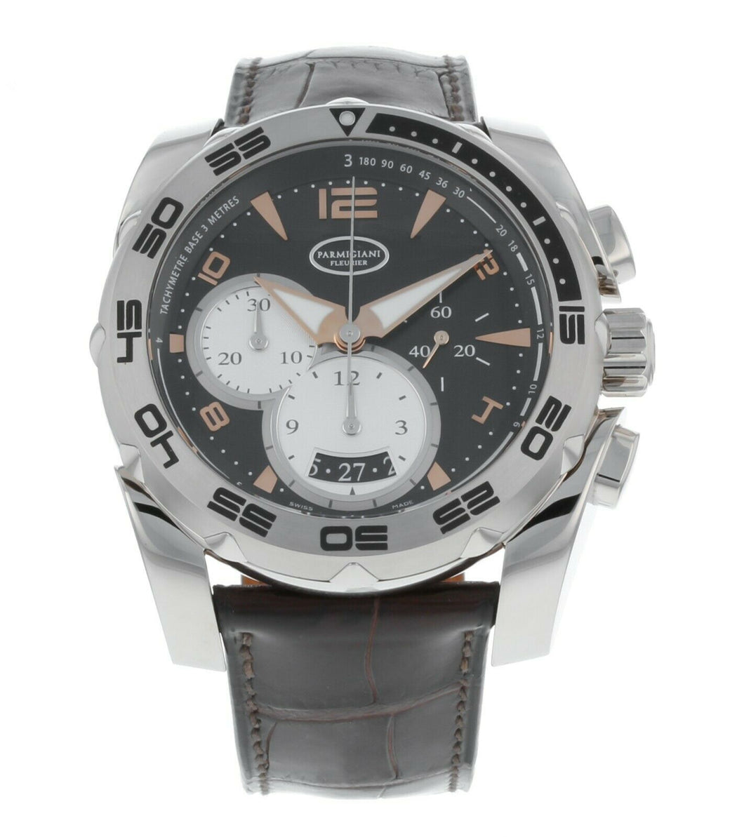 Parmigiani Fleurier Pershing 005 Chronograph Automatic 18k White Gold Mens Watch