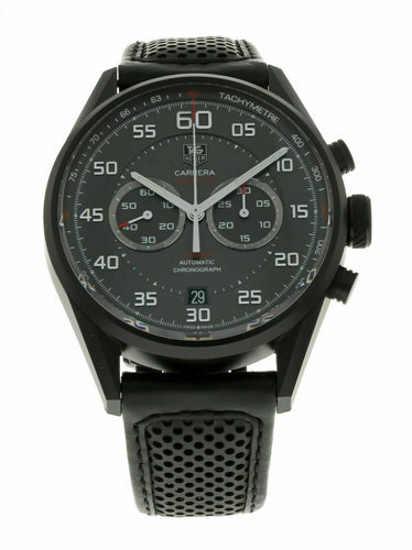Tag Heuer Carrera Flyback Chronograph Automatic Leather 43mm Men's Watch CAR2B80