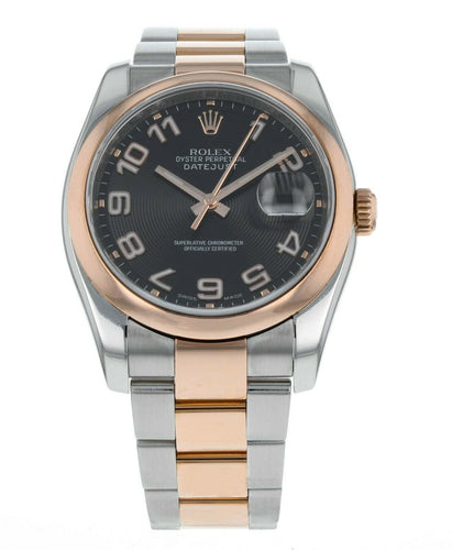 Rolex Datejust 36 Oyster Perpetual 18k Rose Gold & Steel Watch 116201