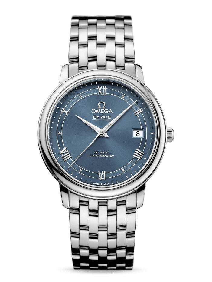 Omega De Ville Prestige Automatic Blue Dial 36.8mm Watch 424.10.37.20.03.002