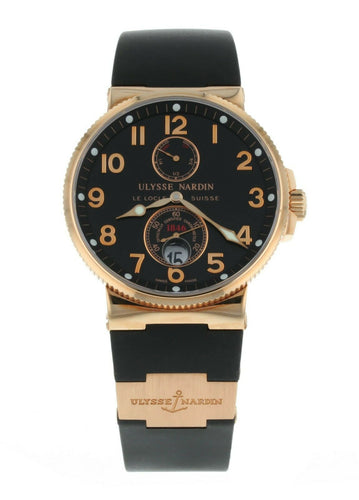 Ulysse Nardin Maxi Marine Chronometer Men's 18k Rose Gold 41mm Watch 266-66-3/62