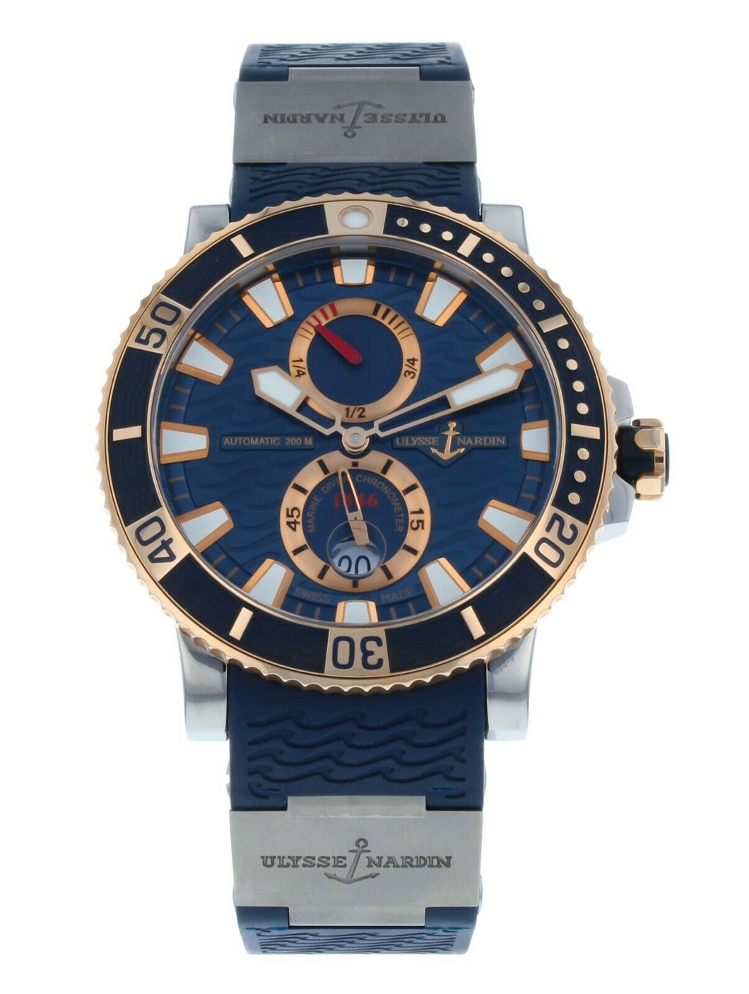 Ulysse Nardin Maxi Marine Diver Titanium & Rose Gold 45mm Men's Watch 265-90