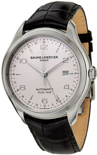 Baume & Mercier Clifton Dual Time 43mm Automatic Men's Watch MOA10112